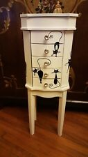 Jewelry Armoire Cabinet Chest Organizer Stand Holder  Storage Cats, Cat box