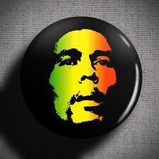 BOB MARLEY Pin Badge Button (1 inch 25mm) Reggae Music Icon Jamaican Rastafarian