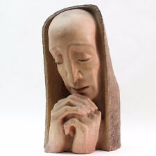 """Ceramic Sculpture """"Praying Woman"""" by Edris Eckhardt made in United States"""