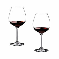 New Set of 2 Riedel Wine Pinot Noir Crystal Glasses Made In Germany Nib 6448/07