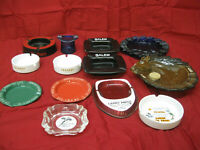 Vintage Lot of 13 Ashtrays