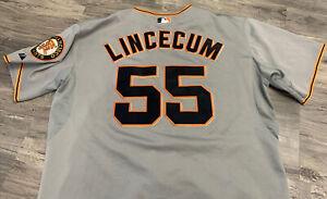 San Francisco SF Giants TIM LINCECUM  #55 Majestic Cool Base Jersey Size 50