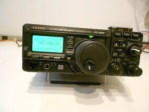 YAESU FT-897 amateur radio transceiver.