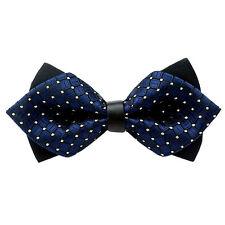 Wedding Party Moda Festa Fancy regolabile fiocco Cravatta Papillon (blu marino)