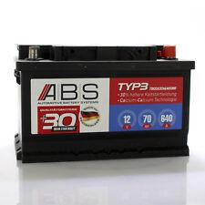 ABS Starterbatterie 12 Volt 70 AH 640 A WARTUNGSFREI Autobatterie Batterie