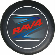 Spare Tire Cover Series TOYOTA RAV4 Tire Cover Red Metallic logo HD vinyl