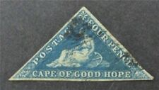 nystamps British Cape Of Good Hope Stamp # 4 Used $65