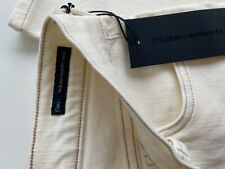 Citizens of humanity CARA cigarette White straight Jean cream w25 BNWT