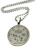 Seven Archangel Protection Pendant Talisman 7 Sigil Evocation Chain Necklace