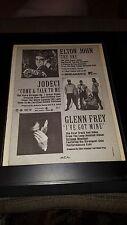 Glenn Frey, Elton John, Jodeci Rare Original Radio Promo Poster Ad Framed!