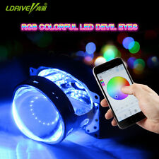 Bluetooth App Control RGB Demon Eyes Halo Ring 12 LEDs Kit For Project Lens