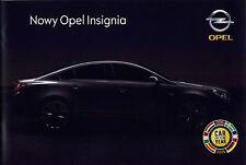 Opel Insignia 08 / 2008 catalogue brochure polnisch polonais