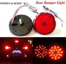 Red Lens LED Rear Bumper Break Backup Tail Fog Lights for Scion Toyota