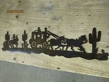 Stage Coach Wall Art Western Rustic Cabin Home Decor Horse Rodeo Cowgirl