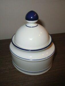 Seltmann Weiden Bavaria Germany Rainbow navy blue Sugar Bowl w/ Lid