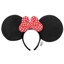 Adult Child Disney's Minnie Mouse Halloween Costume Ear Headband Polka Dot Bow