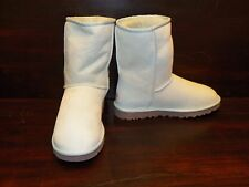 NEW Womens UGG Australia Classic Short Baby Blue Sheepskin Winter Warm Boots