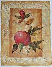 Pomegranate Fruit &Blossom Branch Lithograph Canvas PERSONAL PREFERENCE Wall Art