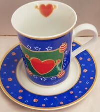 Maxwell & Williams Christmas Joy Blue Porcelain Cup and Saucer