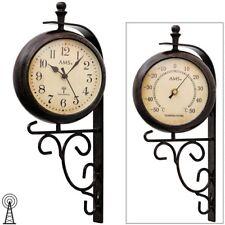 AMS 5961 orologio da parete radio   termometro  vintage retro resistente alle in