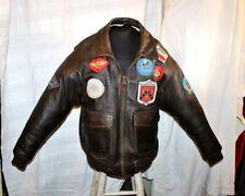 Giubbotto pelle marrone AVIREX G1 Top Gun Originale vintage taglia XXL