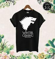 Winter Is Coming T Shirt Game Of Thrones Stark House Wolf Jon Snow Sansa Arya