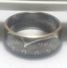 1965 Size 8-15 Half Dollar Silver Coin Ring