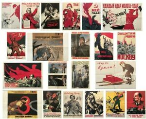 The Great Patriotic War Portfolio of 21 Posters Russia USSR Soviet propaganda