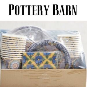 Pottery Barn Party in a Box Set for 24 - Del Sol pattern 168 piece