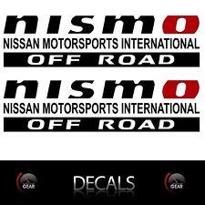 (2) NISMO OFF ROAD Decals Stickers Gloss BLACK, Nissan Titan Frontier Pathfinder
