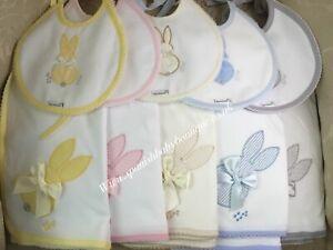Spanish baby bib & cloth /wrap set unisex romany Bunny