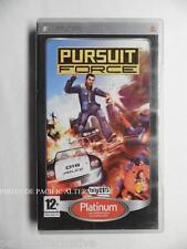 jeu PURSUIT FORCE sur sony PSP en francais game spiel juego gioco police complet