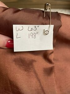 """light brown matalic material fabric crafts sewing 63"""" wide Lightweight Shinny"""