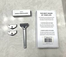 Supply Single Edge Safety Razor with Custom Shave Settings, Classic Matte (Used)
