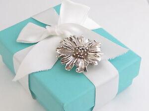 Tiffany & Co Silver Marigold Flower Brooch Pin