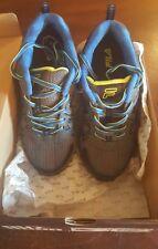 New! Boy's (Youth) FILA 3SH40097-009 Ascente 15 Athletic Shoe Char/Blue SIZE 4