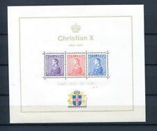 Iceland 1937 Souvenir Sheet Sc B5 MNH CV $85 King Christian X 7516