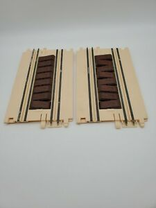 Vintage ARTIN 1/43 Slot Car Track  Rickity Broken Track Board Track 2 Pieces