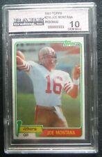1981 Topps Rookie *JOE MONTANA* RC!  S.F. 49ers card #216 Gem MT 10 HOF 81 Topps