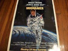 Moonraker   original   27 x 41  Advance poster  A   Mint ! 1979