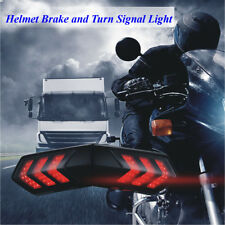 Motorcycle Helmet Wireless LED Smart Brake Stop & Turn Signal Light Indicators
