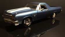 1/18 Ertl 1970 Chevy El Camino SS 454 Metallic Blue W/ White Stripes