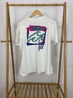 VTG 90s Salem Fresh Gear Pocket Front Thin 50/50 White T-Shirt Size XL USA