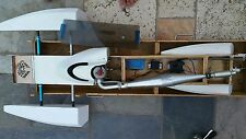 R/c  wow   Gforce hydro gas rigger race boat mod motor by mike butler