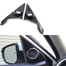 For Honda Civic 2016-2017 2Pcs Carbon Fiber Style Door Stereo Speaker Cover Trim