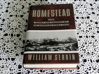 Homestead by William Serrin SIGNED Stated 1st Edition - Pittsburgh - Iron Steel