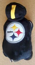 Pittsburgh Steelers Pillow Pals pillow 19x17x8 opened foldable hook loop strap