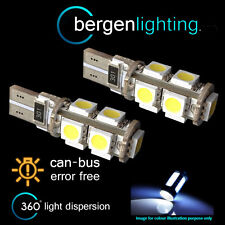 2x W5w T10 501 Canbus Error Free Blanco 9 LED matrícula bombillas np101701
