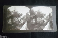 STB359 Venise Italie Canaux pirogue stereoview photo STEREO albumen