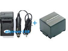 Battery + Charger for Panasonic VDRD200 VDRD210 VDR-D220 VDR-D230 NV-GS120 new